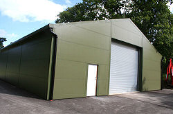 New build, helicopter hangar, Hampshire