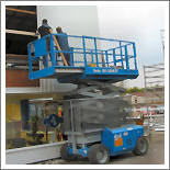 Scissor Lift With Sliding Table